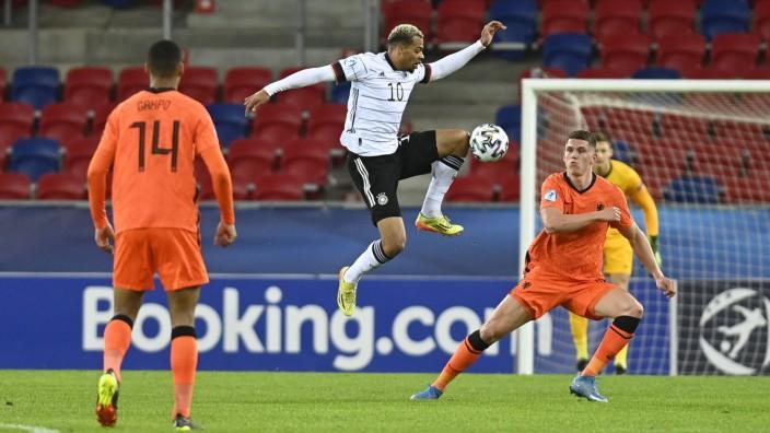 Fussball, Herren, Saison 2020/2021, U 21-EM (Gruppenphase / Gruppe A, 2. Spieltag) in Ungarn, Deutschland - Niederlande