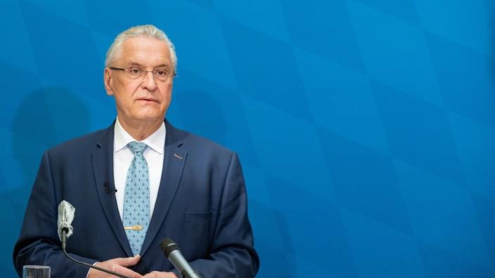 Vorstellung der bayerischen Kriminalstatistik, Der bay. Innenminister Joachim Herrmann (CSU) (IM BILD) und der bay. Pol