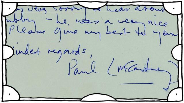 Entschuldigungsbrief von McCartney wird versteigert