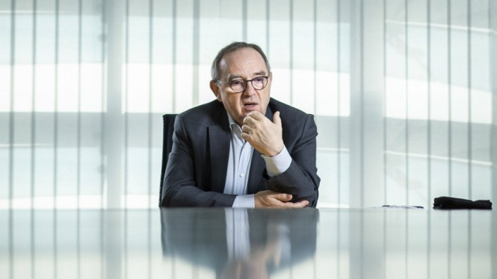 Norbert Walter-Borjans, Bundesvorsitzender der SPD, aufgenommen im Rahmen eines Interviews. Berlin, 25.02.2021. Berlin D