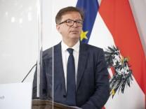 Coronavirus Pressekonferenz in Wien: Verschärfung der Maßnahmen im Osten Österreichs *** Corona press conference Vienna
