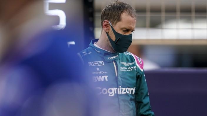 March 28, 2021, Sakhir, Bahrain: SEBASTIAN VETTEL of Germany and Aston Martin F1 Team on the starting grid before the 2