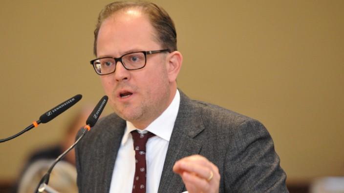 Manuel Pretzl bei Haushaltsdebatte im Münchner Stadtrat, 2019