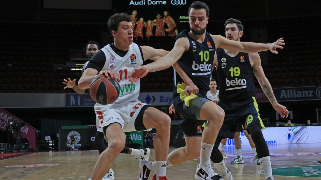 March 30th, 2021, EuroLeague, FC Bayern Basketball vs Fenerbahce, Audi Dome Muenchen, in the picture: Vladimir Lucic (FCB Basketball