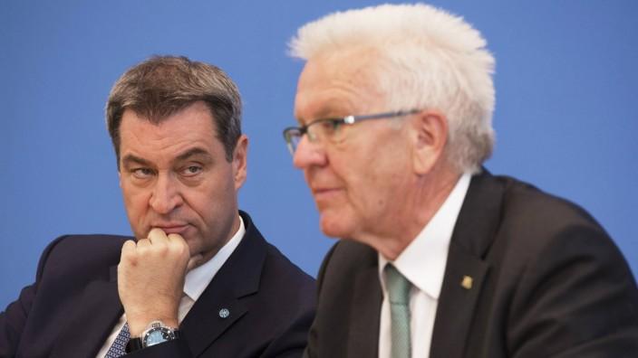 DEU, Deutschland, Germany, Berlin, 07.06.2019: Bayerns MinisterprâÄ°sident Markus SËÜder (CSU) und Baden-W¸rttembergs Mini