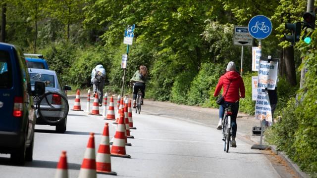 Münchner Planungsausschuss berät über Pop-up-Radwege