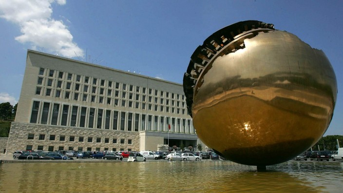 A general view of the Farnesina Palace, the Italian Foreign Ministry, in Rome