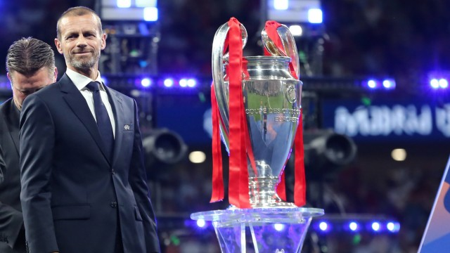 Aleksander Ceferin UEFA President the Cup Madrid 01 06 2019 Estadio Wanda Metropolitano Football UE