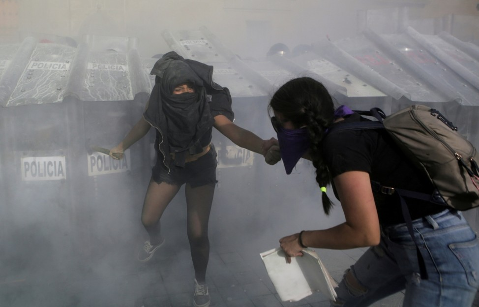 Protest in support of Victoria Salazar, who died after a Mexican female police officer was seen in a video kneeling on her back, in Mexico City
