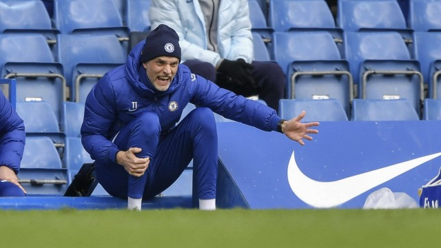 Sport Bilder des Tages Thomas Tuchel Manager of Chelsea during the Premier League behind closed doors match between Chel