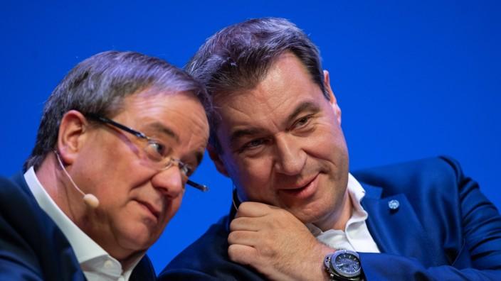 CDU-Chef Armin Laschet und CSU-Chef Markus Söder