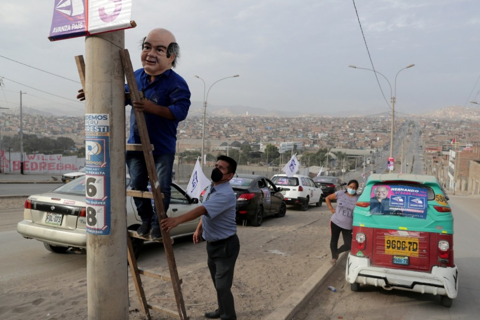 Peru's presidential candidate Soto attends a rally in Lima