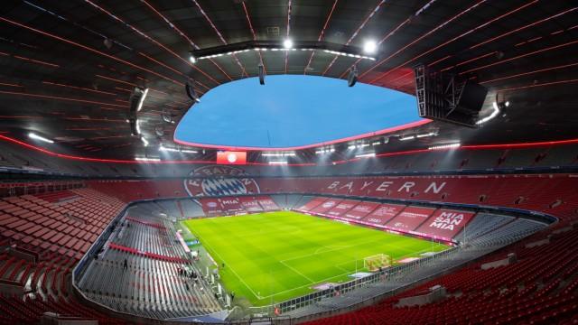 Bundesliga: Leere Allianz Arena während der Corona-Pandemie