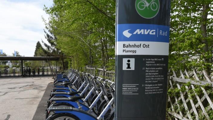 MVG-Mieträder dürfen im Landkreis München nur noch an den Stationen abgestellt werden - sonst wird es teuer.