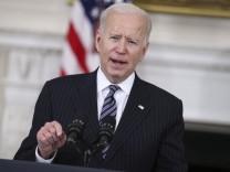 April 6, 2021, Washington, District of Columbia, USA: United States President Joe Biden makes remarks on the state of va