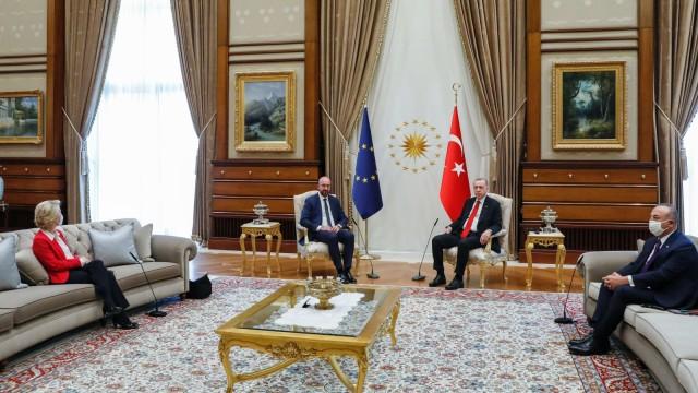 Europäische Union: EU-Spitzen treffen Erdogan inAnkara