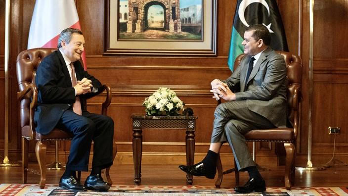 Italienischer Ministerpräsident Draghi in Libyen