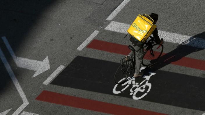 Fahrradbote in Barcelona