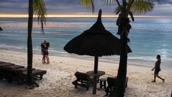 Sunset at Trou aux Biches, public beach, Mauritius Mauritius Copyright: xSergixReboredox REB-099-DP7201