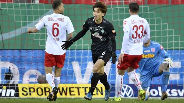 07.04.2021 - Fussball - Saison 2020 2021 - DFB Pokal Vereinspokal -Viertelfinale : SSV Jahn Regensburg - SV Werder Brem