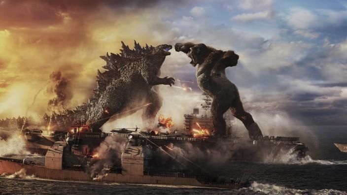 """Kinocharts in der Pandemie: """"Godzilla vs. Kong"""" steht auf Platz eins der deutschen Kinocharts, vor Peter Hase und Otto Waalkes."""