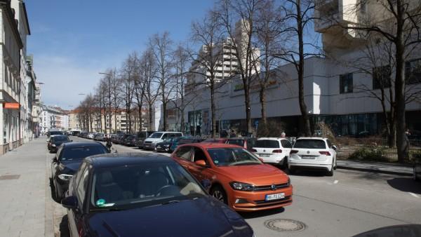München: Schießstättstraße im Westend, Schwanthalerhöhe