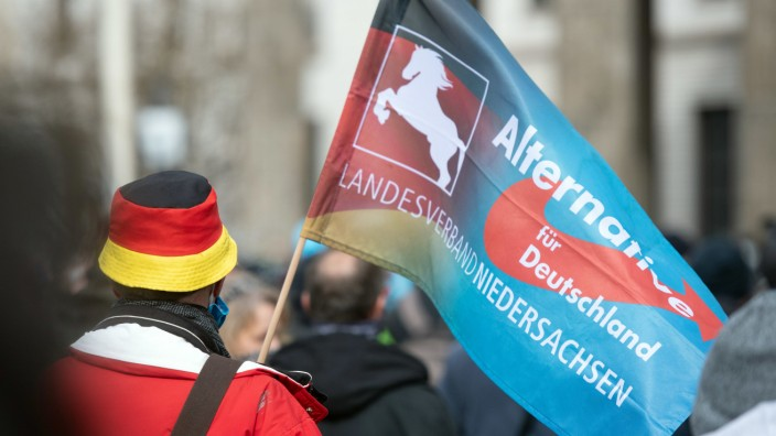 Coronavirus - Demonstration am Brandenburger Tor