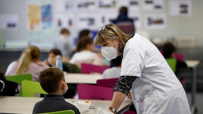 Coronavirus: Eine Schule während der Corona-Pandemie