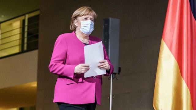 Coronavirus in Europa: Angela Merkel beim Gipfel der EU-Staats- und Regierungschefs
