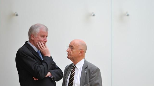 CSU-Politiker Alfred Sauter mit Ministerpräsident Horst Seehofer