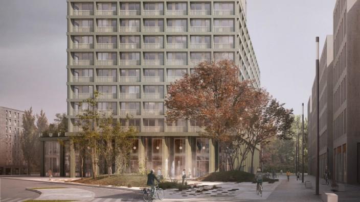 Neues Hochhaus Mingard der Hammer AG in Milbertshofen