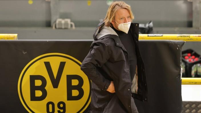 firo : 12.12.2020 Fußball: Fussball: 1.Bundesliga, Saison 2020/21 BVB, Borussia Dortmund - VfB Stuttgart firo : 12.12.20; Sven Mislintat