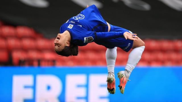 Bristol City v Chelsea - FA Women s Continental Tyres League Cup - Final - Vicarage Road Chelsea s Sam Kerr celebrates; Fußball - Frauen - Chelsea Sam Kerr