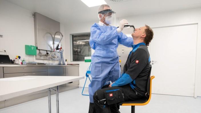 Coronavirus - Schnelltests bei Maschinenbauer Harro Höfliger