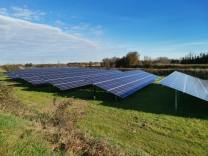 Freiflächensolaranlage, Photovoltaik, Fotovoltaik, Votofoltaik, Markt Schwaben, Haus
