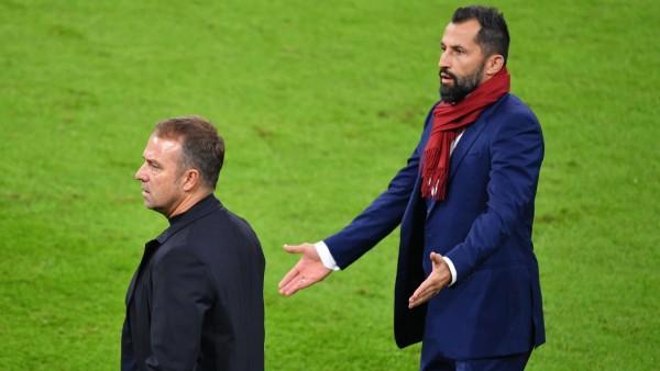 Zwist zwischen Hans Dieter Flick (Hansi ,Trainer Bayern Muenchen) und Hasan SALIHAMIDZIC (Sportvorstand Bayern Muenchen); Flick