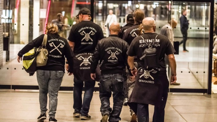 October 12, 2019, Munich, Bavaria, Germany: The right-extremist and Verfassungsschutz-monitored (Sec