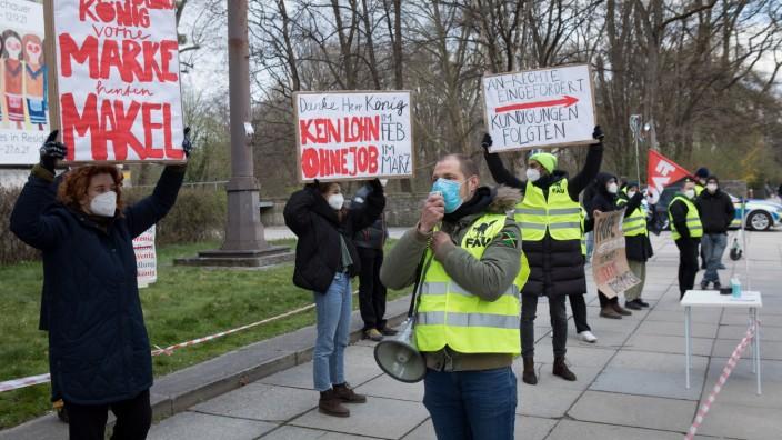 Demo vor dem Haus der Kunst