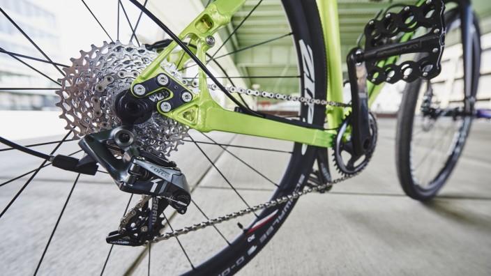 Der 1x11-Antrieb spart Gewicht und sorgt für eine aufgeräumte Optik am Bike.