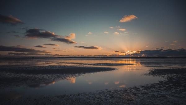 Germany Sylt Schleswig Holstein Wadden Sea National Park List Ellenbogen sunset evening light P