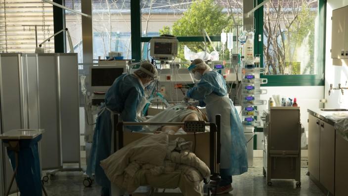 Corona-Intensivstation in der München Klinik Schwabing, Schwabinger Krankenhaus