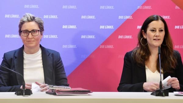 Linke-Chefinnen Susanne Hennig-Wellsow und Janine Wissler