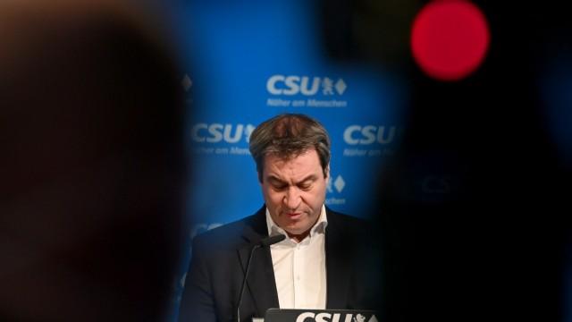 CSU-Präsidiumssitzung - Pressekonferenz