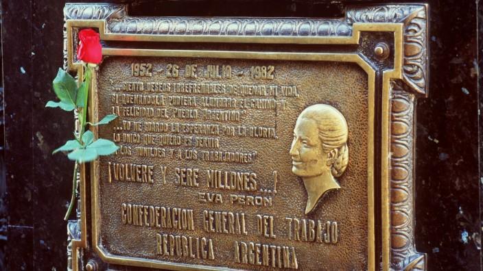 Das Grab von Evita Peron in Buenos Aires