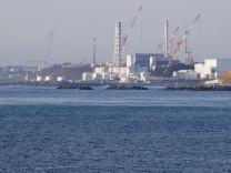 Crippled Fukushima Daiichi nuclear power plant Photo taken April 12, 2021, from the Fukushima Prefecture town of Namie,