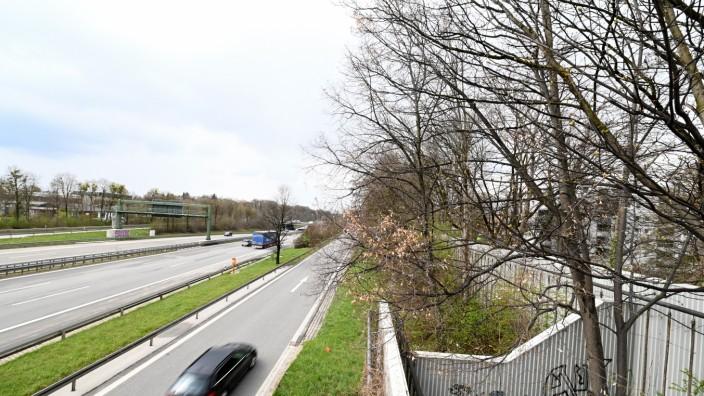 Autobahn A96 Blick vom Blumenauersteg