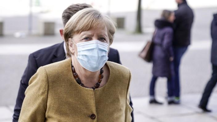 CDU/ CSU Fraktionssitzung des Bundestag Aktuell, 13.04.2021, Berlin, Dr. Angela Merkel Bundeskanzlerin der Bundesrepubl