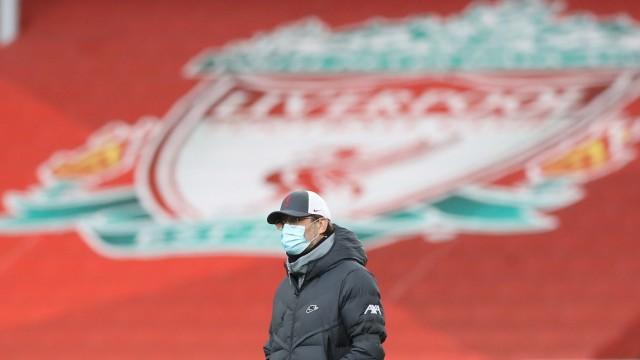 FC Liverpool: Trainer Jürgen Klopp während eines Spiels an der Anfield Road