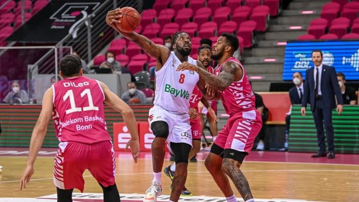 easyCredit BBL, Telekom Baskets Bonn vs. FC Bayern München Basketball, 13.04.2021 Jalen Reynolds (FC Bayern München Bask