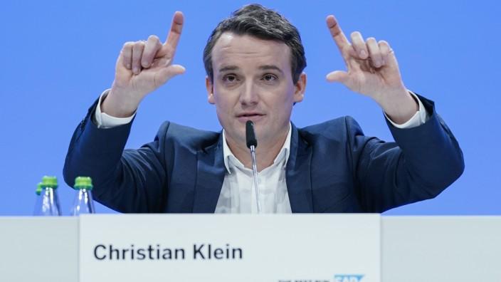 SAP Bilanzpressekonferenz, Christian Klein